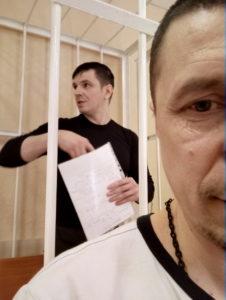 Общественный защитник и его подзащитный в уголовном процессе. Ленинский районный суд города Ставрополя. Фото: Ласдорф В.
